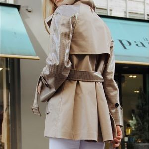 MACKAGE // Leather Belted Trench